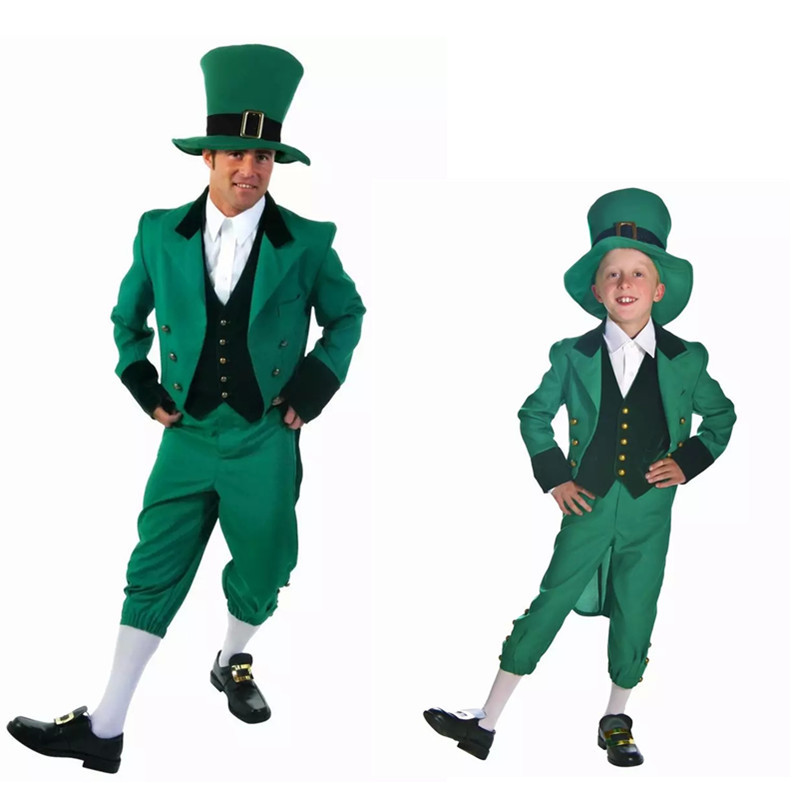 Patrick/'s Day Adult Halloween Costume 4 pc Lucky Guy Leprechaun St