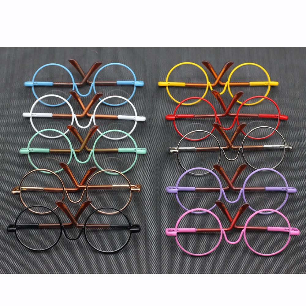1Pcs glasses/Eyewear + box (<font><b>suitable</b></font> <font><b>for</b></font> BJD blyth ,tang kou doll 1/6 doll,1/3 American girl doll )glasses toy child gift
