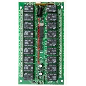 Image 2 - Dc 12 v 18ch relé interruptor remoto 18 receptor de relé 18 botão transmissor remoto contato rx tx pedir luz lâmpada casa inteligente sem fio