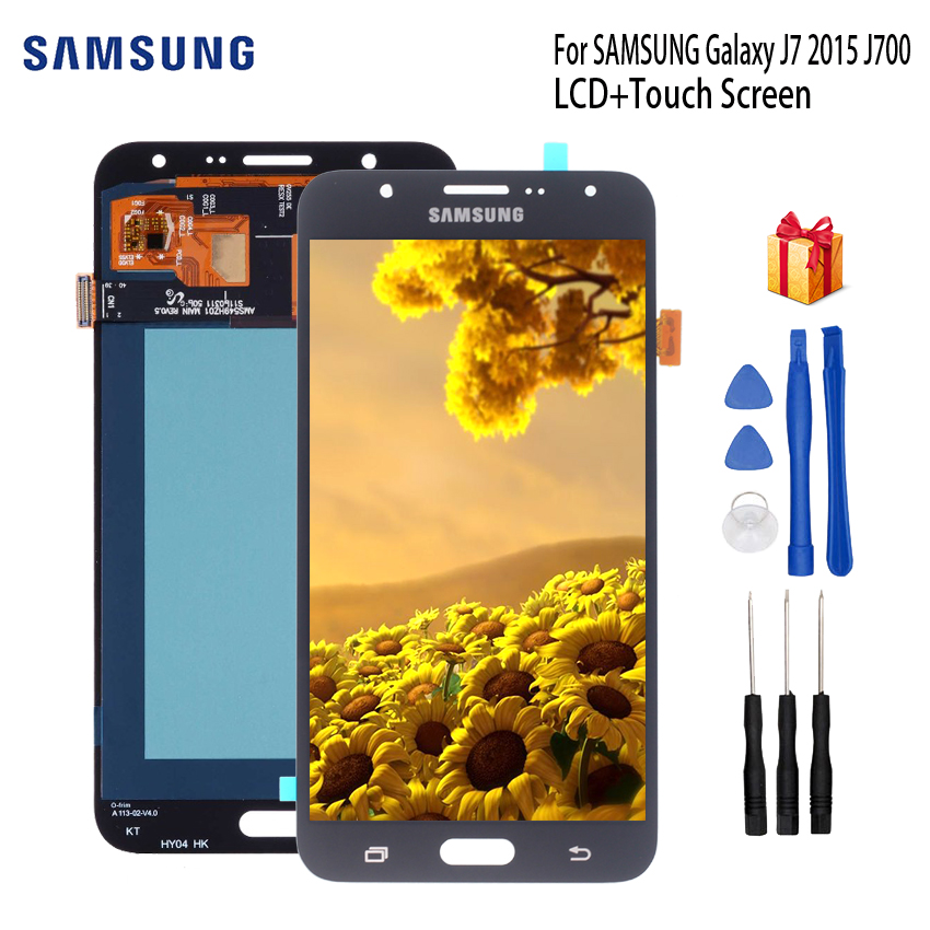 AMOLED LCD For SAMSUNG Galaxy J7 2015 Display J700 J700F J700M J700H Touch Screen Dispaly Parts