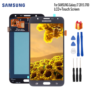 AMOLED LCD For SAMSUNG Galaxy J7 2015 Display For SAMSUNG Galaxy J7 2015 J700 J700F J700M J700H LCD Touch Screen Dispaly Parts