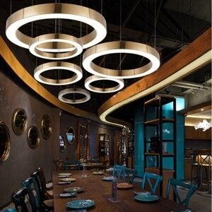 Image 3 - LukLoy Modern LED kolye Işık Lüks Daire Şampanya Altın LED kolye Lambaları Otel Oturma Odası Asılı Aydınlatma Yatak Odası Ofis