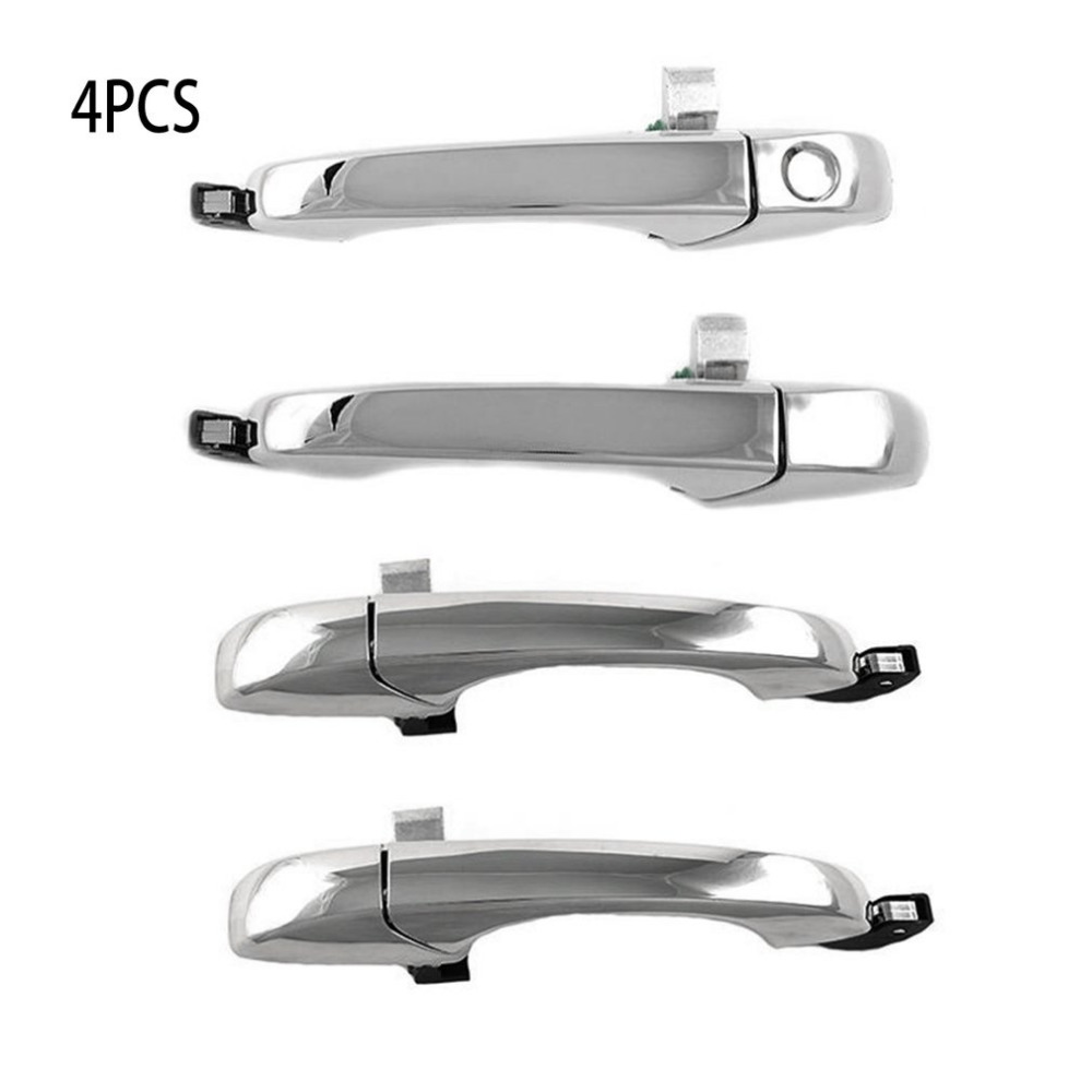 4 Pieces Outer Door Left Right Front Rear Handle Set Chrome Surface For Chrysler 300 C 05-10 For Dodge Magnum 05-08 Charger 07