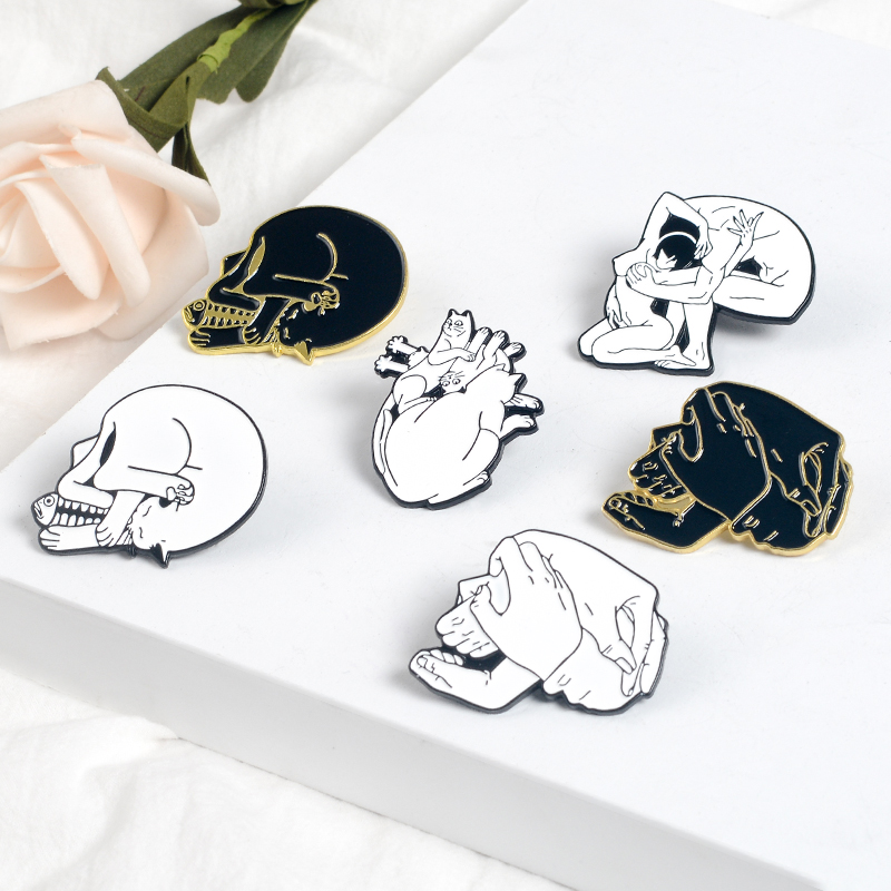 Home & Garden New Fashion Cartoon Funny Spoof Cactus Cat Pins And Brooches Pin Badges Hat Backpack Accessories Lovers Jewelry Gift Elegant And Sturdy Package