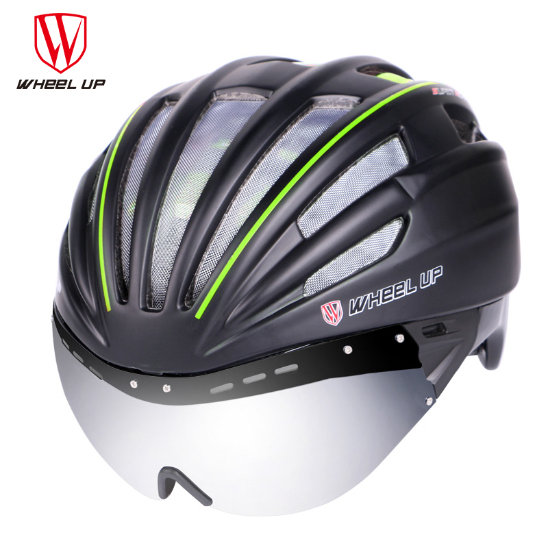 WHEEL UP Cycling Helmet With Sunglasses Lens Men Women Bicycle Helmets Ultra-Light High Quality Mountain Road Bike Helmet M3101 ноутбук hp zbook 14u 14 1920x1080 intel core i7 7500u 256 gb 8gb amd firepro w4190m 2048 мб черный windows 10 professional 1rq68ea
