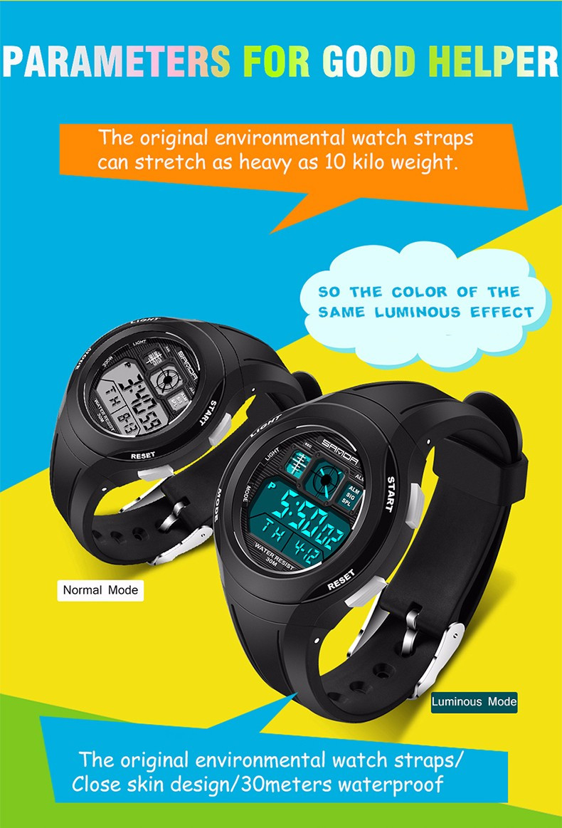 Rubber Kinderen Horloges LED 9