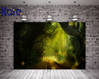 Kate Night Forest Photography Backdrops Green Screen Firefly Newborn Photography Props With Rail Tree Photography Backdrops