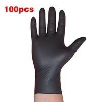 100 TEILE/SATZ Haushalt Reinigung Waschen Einweg Mechaniker Handschuhe Schwarz Nitril Labor Nail art Antistatische Handschuhe