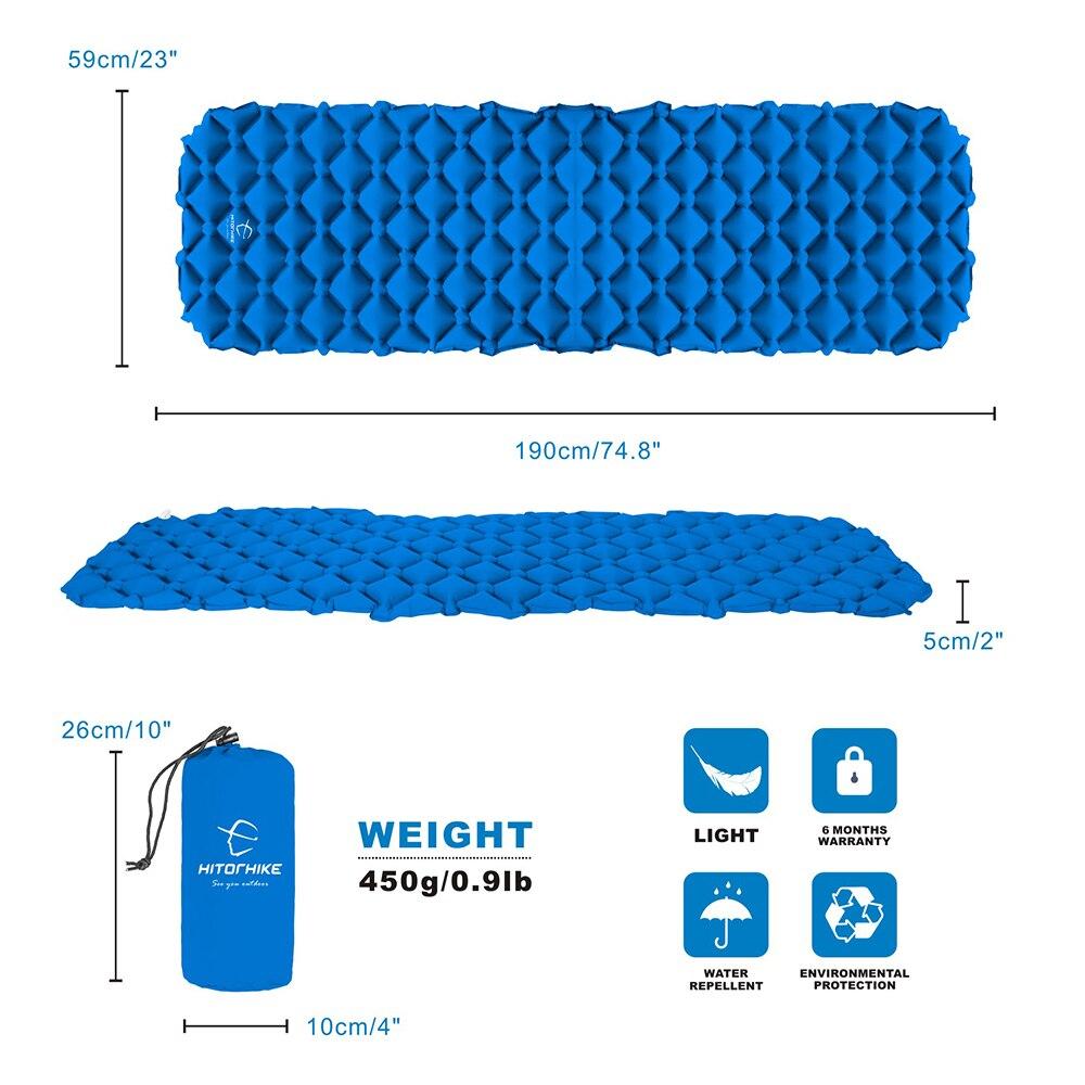 Inflatable sleeping pad 1.3