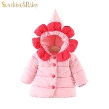 Новорожденных Зимняя куртка для девочек цветок Дизайн хлопковые пиджаки малышей Детская Верхняя одежда Детские Зимняя одежда теплое пальто Мужские парки