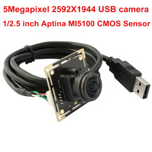 5MP 2592×1944 usb camera board Aptina MI5100 CMOS 1.56mm Fisheye Lens UVC CCTV camera module