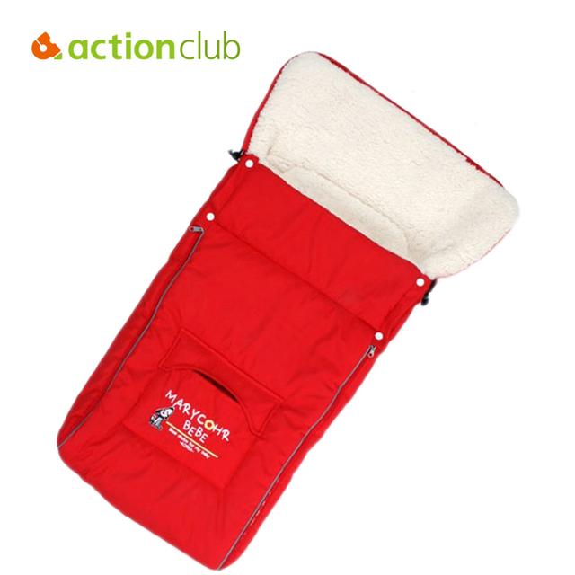 Actionclub Nova Chegada Carrinho de Bebê Sacos de Dormir Envelope Para Recém-nascidos de Inverno Quente Fur Engrossar Sacos de Dormir Do Bebê Sacos de Dormir