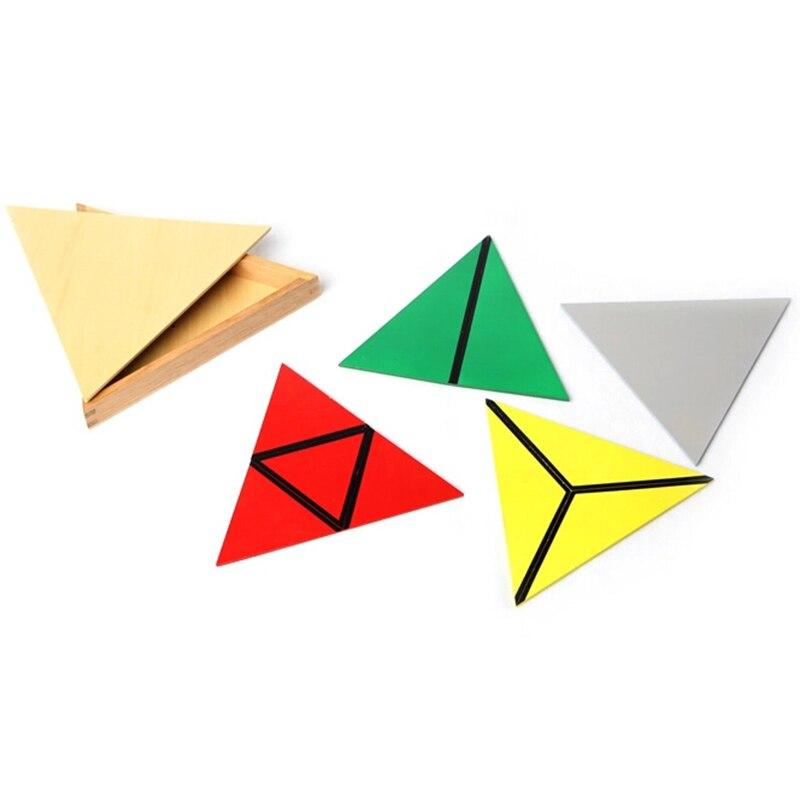 Bébé jouet Montessori Triangles constructifs avec 5 boîtes pour l'éducation de la petite enfance formation préscolaire jouets d'apprentissage - 5