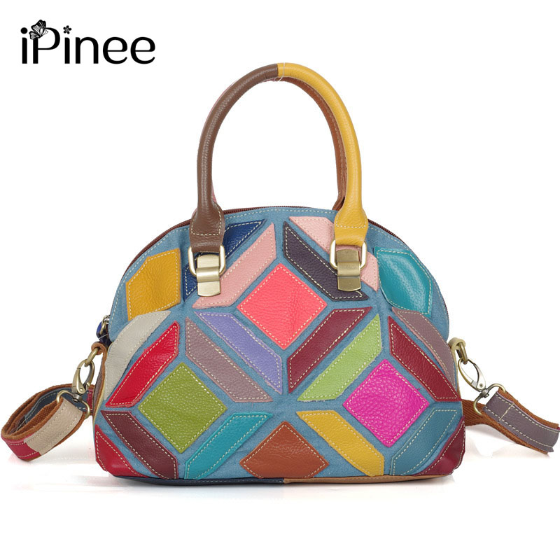 iPinee Brand Crossbody Bags For Women Small Bag Female Lady Shoulder Bags Genuine Leather Shell Bags Women Fashion Purse cd scorpions animal magnestism 50th anniversary deluxe edition
