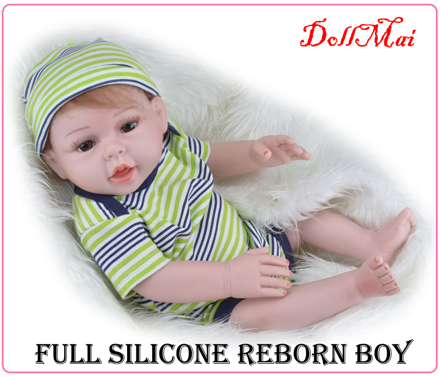 ФОТО Full body silicone vinyl reborn baby dolls lifelike newborn girl boy real baby dolls for children gift bebe alive reborn 20inch