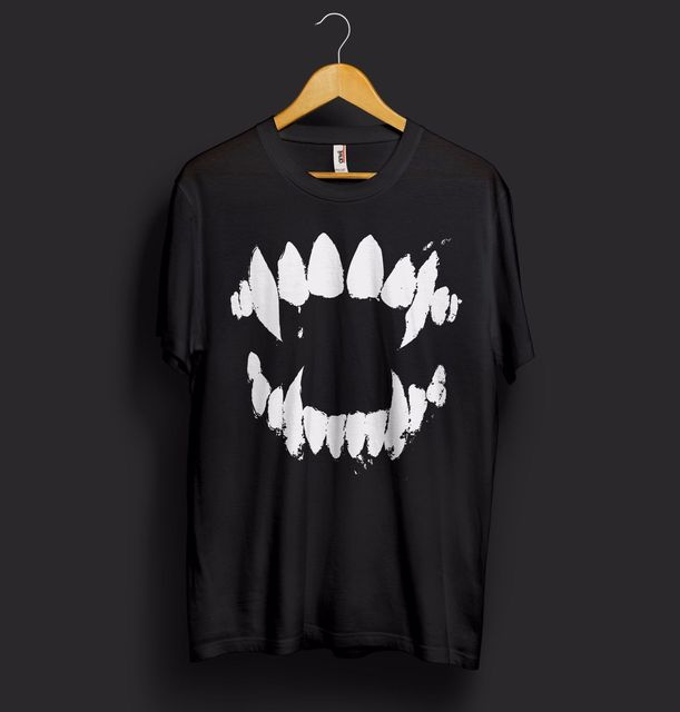 e0e9b6cd53b Jaws Halloween T Shirt Top Monster Shark Teeth Fangs Party Costume Cool  Cotton T Shirt for Women Harajuku Top Tee-in T-Shirts from Women s Clothing  on ...