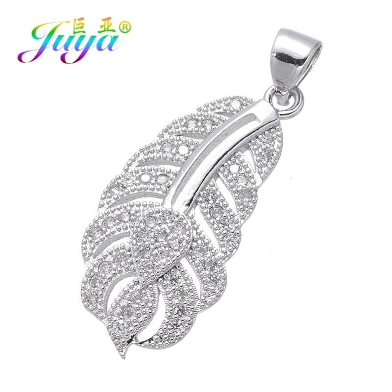 Juya DIY Ювелирные компоненты золото/серебро/розовое золото медальон сердце ключ Подвески и кулоны, аксессуары для женщин модные ювелирные изделия - Окраска металла: White Gold