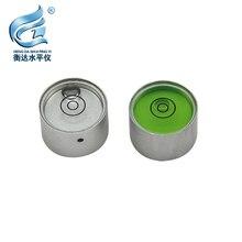 Center Pole Level Bubble 20*12mm Mini Spirit Level Round Metal Horizontal Bead for GPS RTK SOUTH SANDING цена и фото