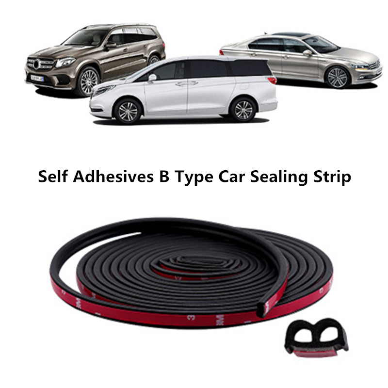 1-100M B Pillar Type Car Rubber Sealing Strip Car Door Trunk Hood Anti-collision Strips Car Styling Soundproof Adhesives Sealant