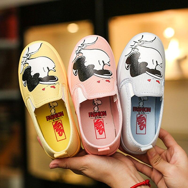 Kinderen Canvas Schoenen Lente Meisje Comfortabele Platte Schoenen - Kinderschoenen - Foto 4