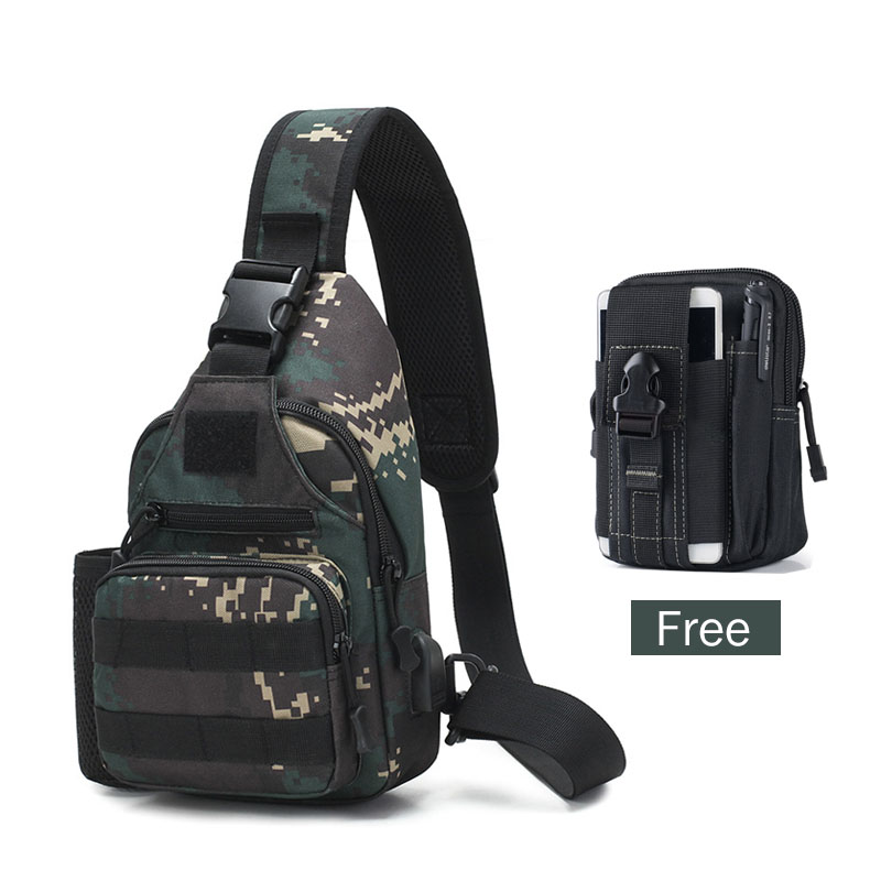 600D Waterproof MenTactical Shoulder Bag Military Army Camping Hiking Backpack Camping Travel Molle Pouch Belt Waist Pack Bags