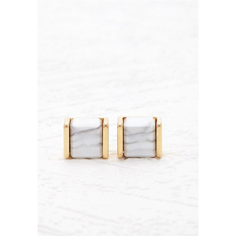 Aliexpress.com : Buy 2017 New Fashion White Stone Stud Earrings ...