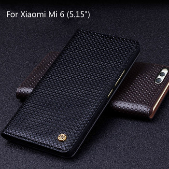 יוקרה חדשה המקורי OCHGEP טלפון המקרים עור תנין מקורית של מותג עבור שקיות טלפון אופנה לxiaomi Mi Xiaomi mi6 m6 6