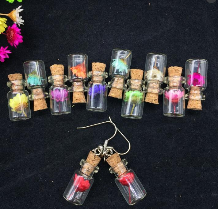 19*4mm Glass Bubble 20pcs Pepper Glass Bottle charming handmade Hollow Glass