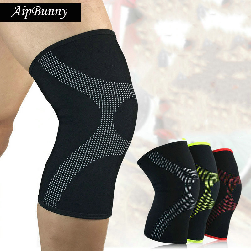 2 Pcs Breathable Cool Dry Sport Fitness Workout Knee Brace Pad Cycling Running Hiking Powerlifting Knee Protector Support