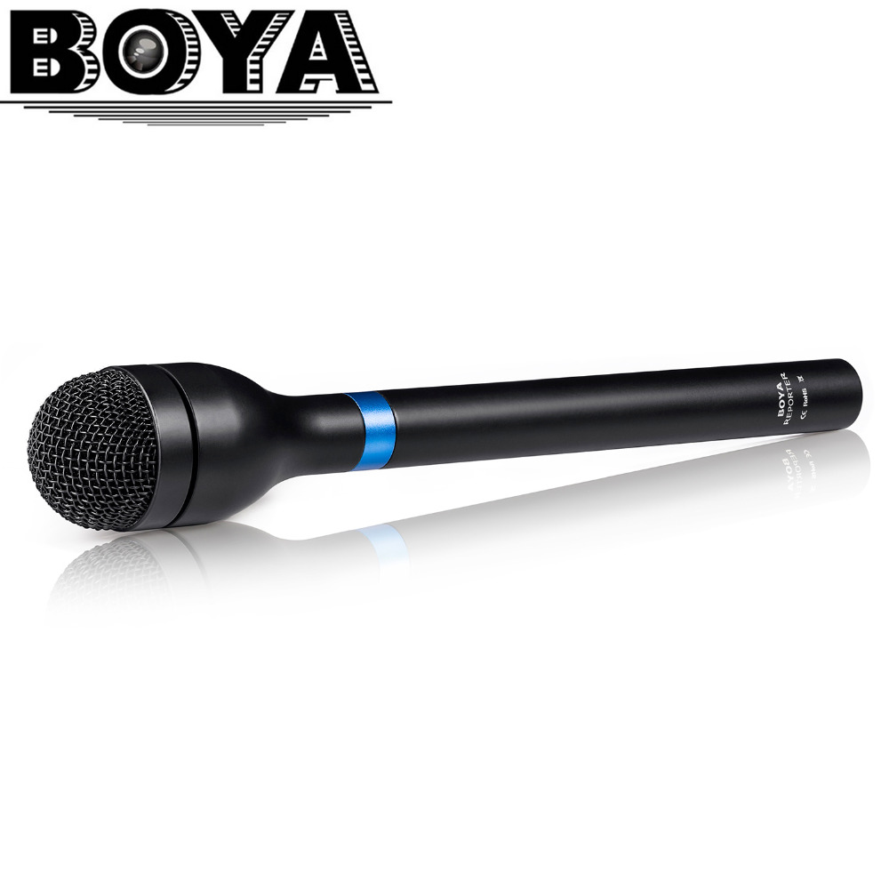 Newest BOYA BY-HM100 Omni-Directional Wireless Handheld Dynamic Microphone XLR Long Handle for ENG & Interviews & News Gathering
