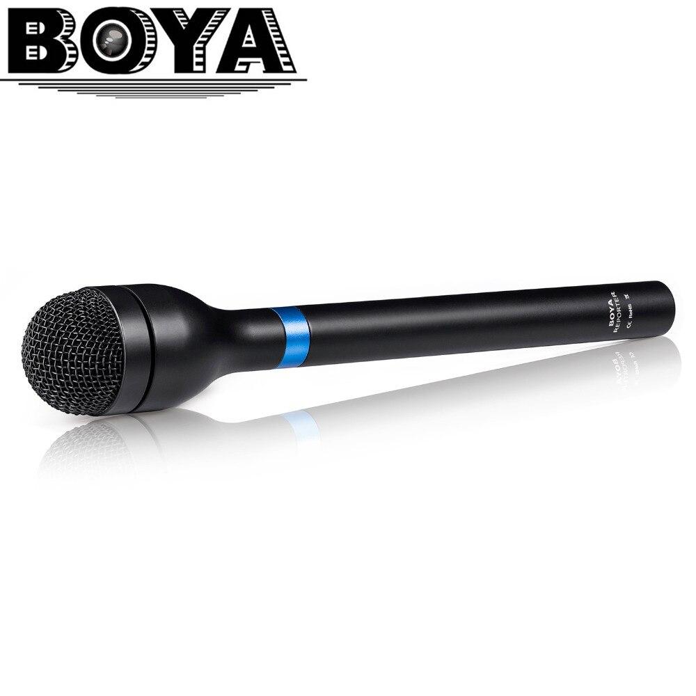 Più nuovo BOYA BY-HM100 Omni-Direzionale Wireless Palmare Dinamico Microfono XLR Manico Lungo per ENG e Interviste e Raccolta di Notizie