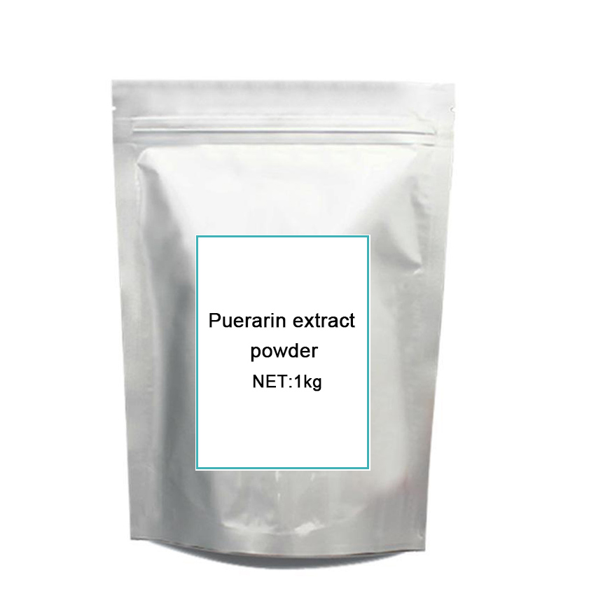 GMP certified Natural 99% Anti-hypertension anticancer Enhance myocardium Puerarin extract 1KG Best Price Free Shipping c ts021 new 100g top grade purely natural organic pueraria mirifica powder puerarin lobed kudzuvine root extract herbal tea