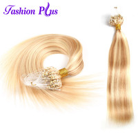 Fashion Plus Micro Loop Hair Extensions Human Hair Extension With Rings Colored Strands 1g/strand100g Micro Ring Hair Extensions