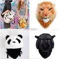 2017 novela especial nuevo Lujo Fresco 3D Tiger Head Lion Panda estilo leopardo Tigre Blanco Cabeza Bolsa Mochila Mochila tigre #330024