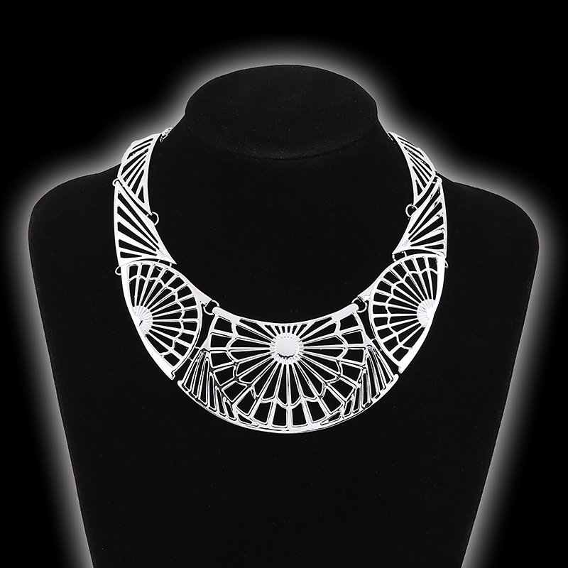 Ethnic collar necklace Tibetan silver imitation Turkish traditional jewelry style minority neclace mandala supernatural jewelery