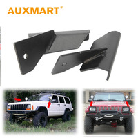 Auxmart 4 Lower Windshield LED Light Bar Mounts Driving Mounting Brackets Auto For Jeep Cherokee XJ