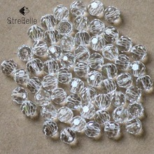 6mm Football Bead 100PCS/LOT 2016 Crystal Glass Beads Jewelry Beads European Charms Fit Diy Bracelet Women Charms Jewelry Making