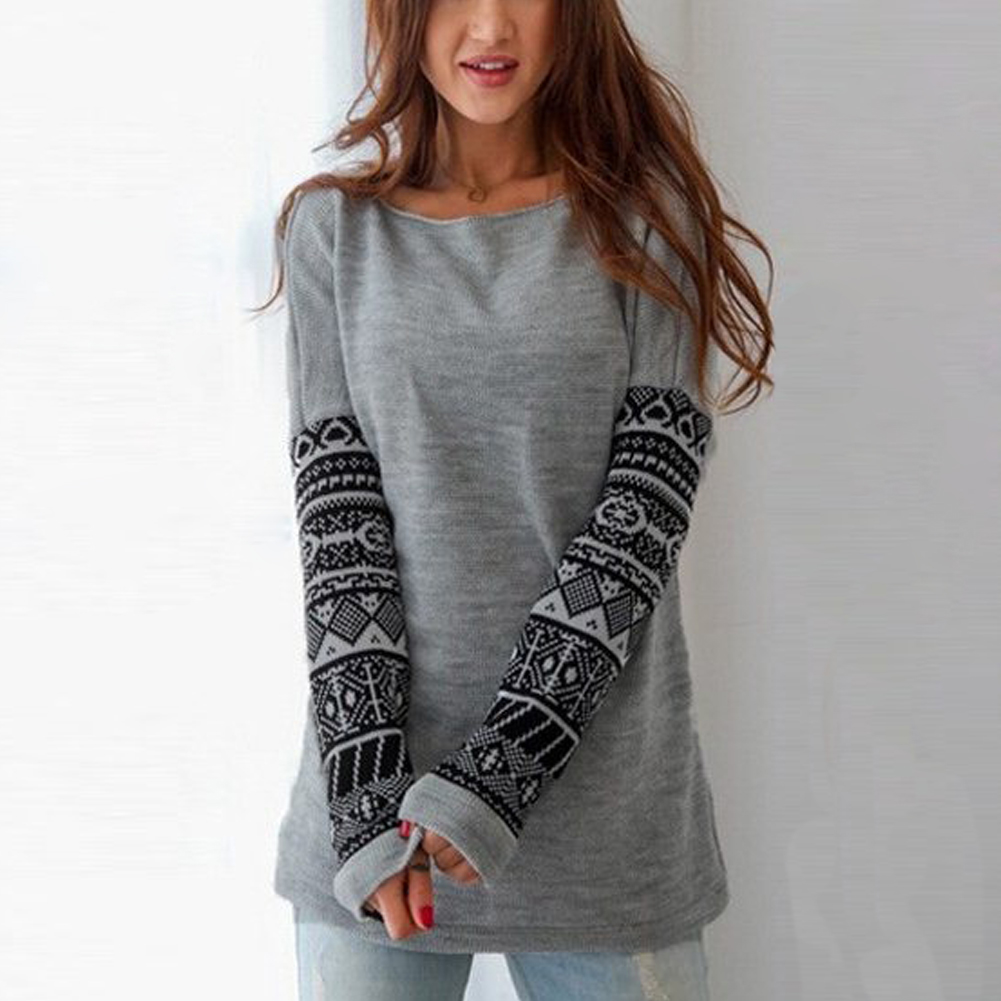 Women's Ethnic Print Long Sleeve T-Shirt 2