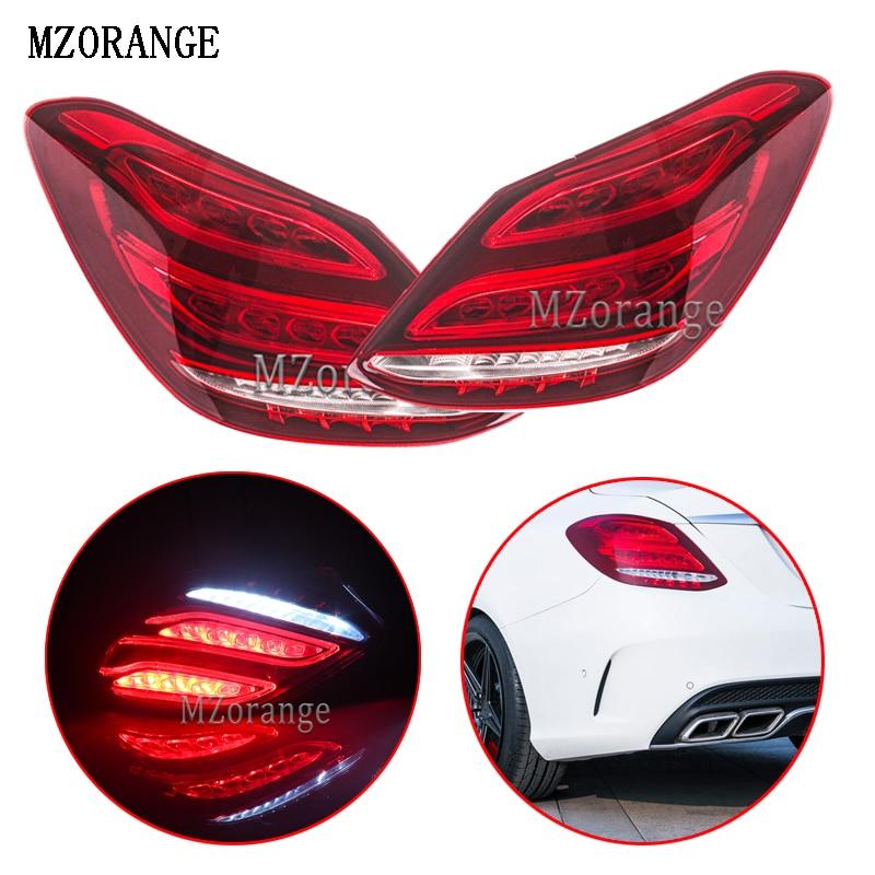 MZORANGE For Mercedes Benz C class W205 2014 2018 Rear Brake Light Tail Lamp Taillight taillamp