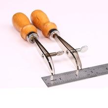 Borrador de borde de cuero ajustable con mango de madera, bricolaje, hecho a mano, BILLETERA, herramientas para manualidades de cuero, accesorios de costura