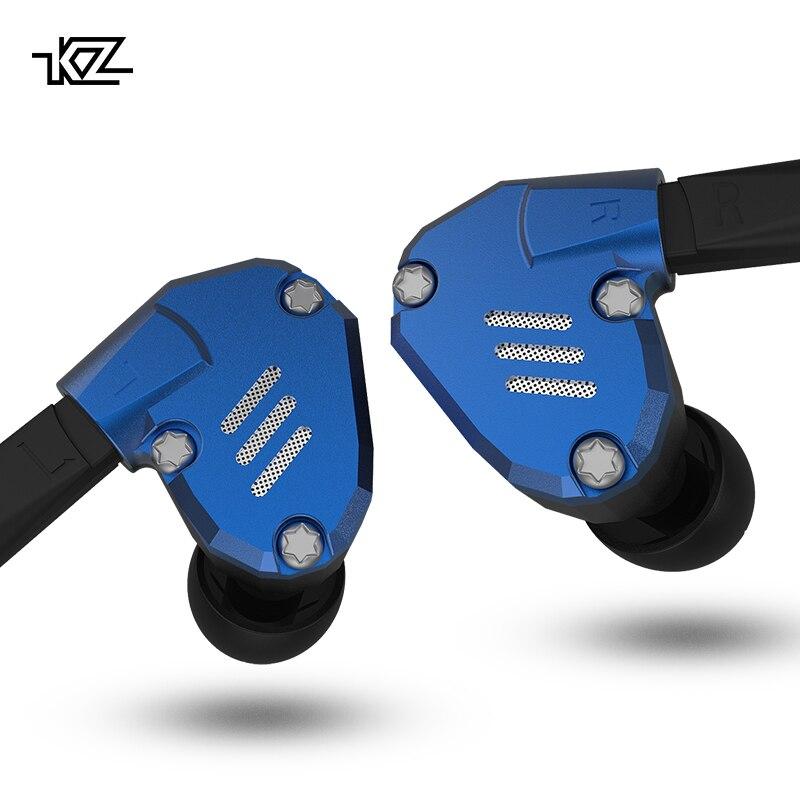 AK Audio KZ ZS7 1DD + 4BA Hybird dans l'oreille écouteur HIFI Sport en cours d'exécution écouteurs prise d'oreille casque KZ ZS10 BA10 ZS6 ZST ES4 ZS5 AS06