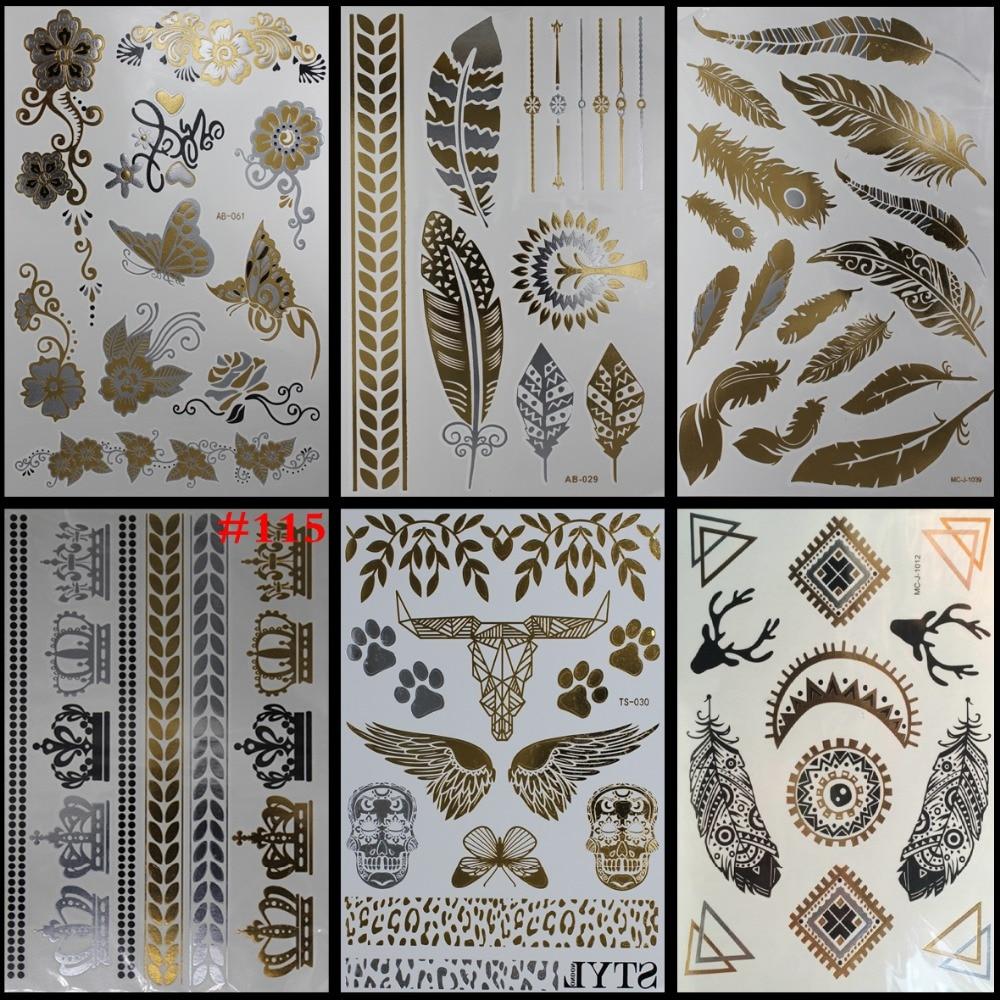 6 Sheets Wrist Body Art Henna Tattoo Stencil Flower: Online Buy Wholesale Flower Wrist Tattoos From China