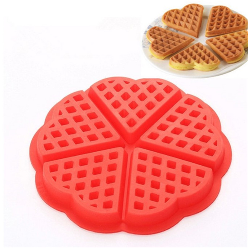 TTLIFE Non-stick Waffle Silicone Mold Kitchen Bakeware Cake Dessert Mould Makers Oven High-temperature Baking Tools