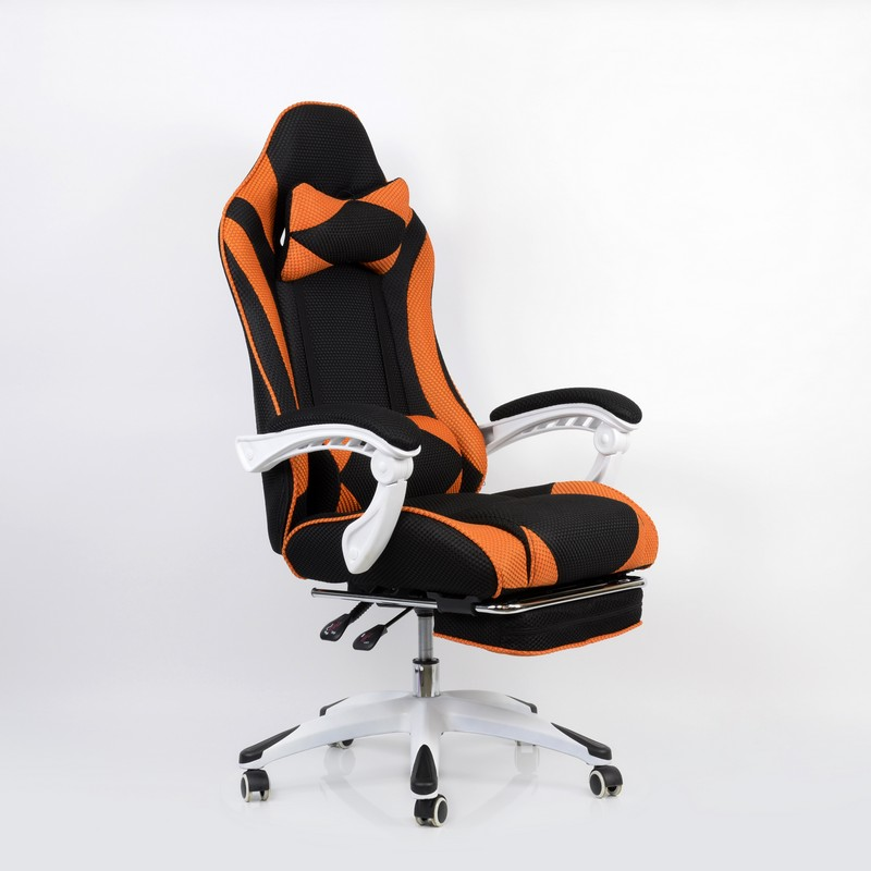 94999 Barneo K 140 Black Orange Gaming Chair Computer Chair Mesh Fabric  High Back Plastic Armrests Free Shipping In Russia In Office Chairs From  Furniture ...