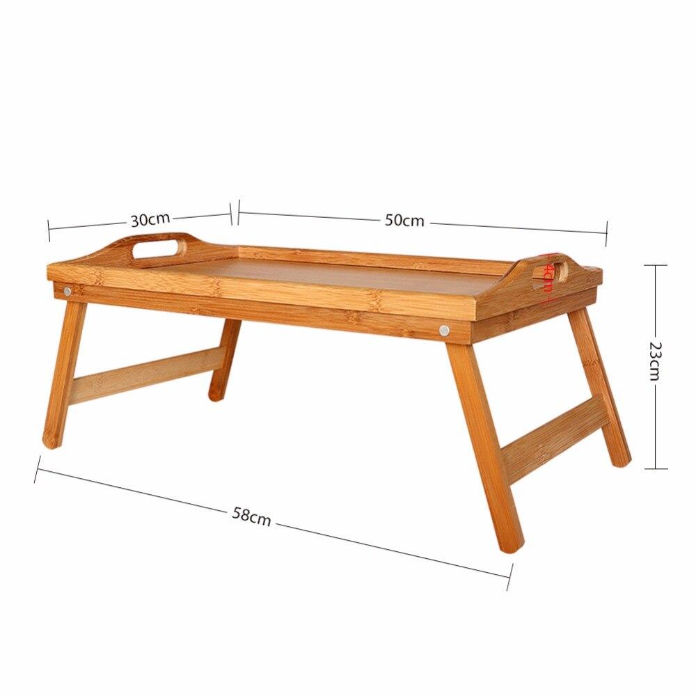 Tragbare Bambus Holz Faltbare Frühstück Tisch Bett Tablett Stil