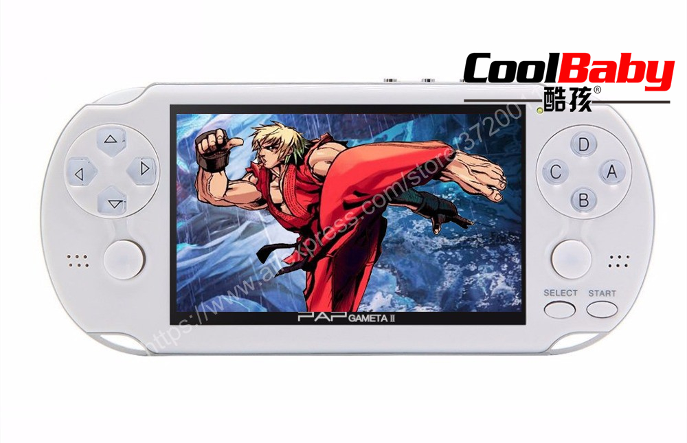 4 3 16GB Built in 3000 Classic Games 64Bit HD Handheld Game Player Support font b
