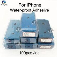 100 個防水ステッカーのiphone SE2 11 プロ 6s 7 8 プラスx xs最大xr lcdディスプレイフレームベゼルシールテープglu 3 メートル粘着修理