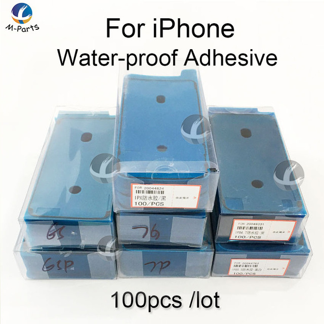 100pcs Waterproof Sticker For iPhone SE2 11 Pro 6S 7 8 Plus X XS MAX XR LCD Display Frame Bezel Seal Tape Glu 3M Adhesive Repair