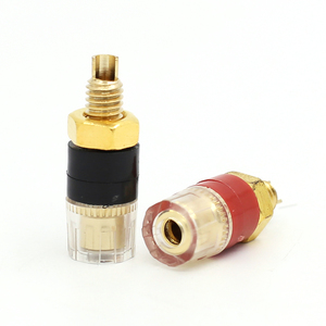 Image 3 - 12pcs Terminal Gold plating Binding Post for Speaker Amplifier Banana Plug