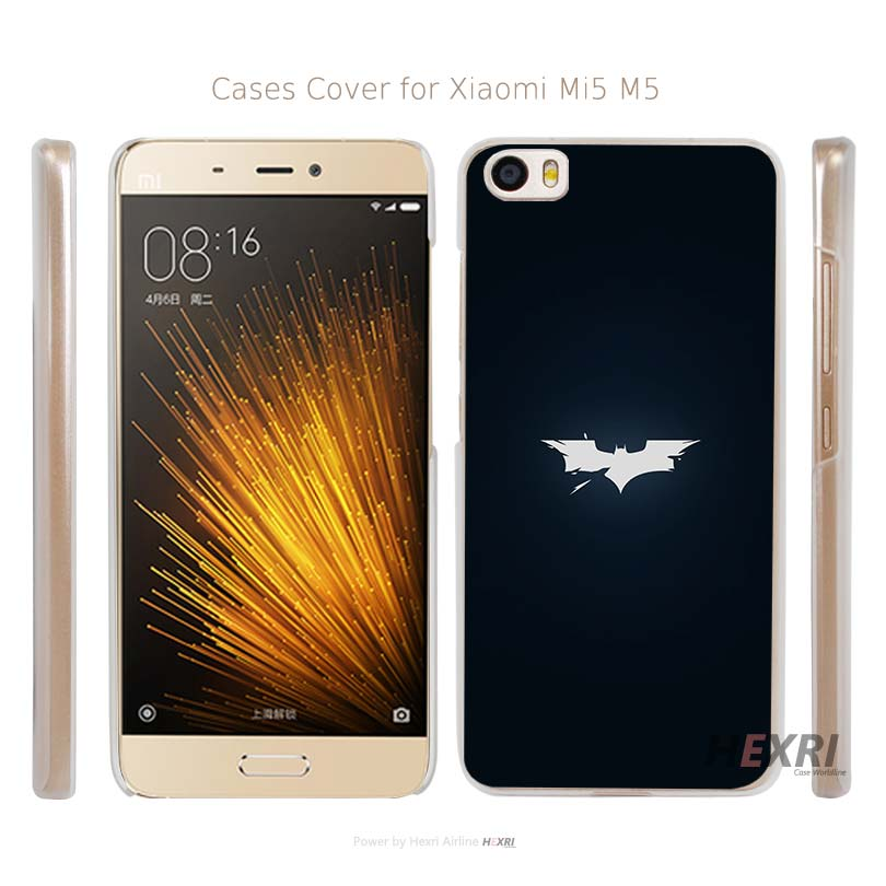 ab55 batman logo <font><b>dark</b></font> <font><b>shattered</b></font> Transparent Hard Mobile Cell Phone Case Cover for Xiaomi Mi 4 5 Redmi Note 3 4 Pro Prime